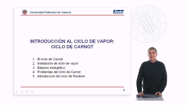 Introducción al ciclo de vapor: ciclo de Carnot