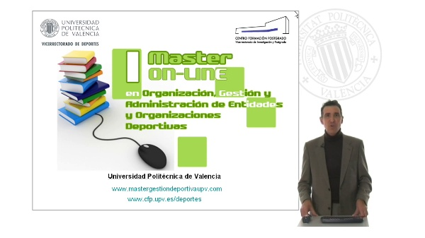 Master on-line en Organización, Gestión y Administración de Entidades y Organizaciones Deportivas