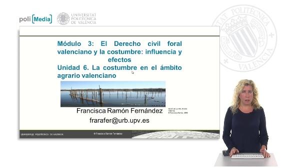 La costumbre en el ámbito agrario valenciano