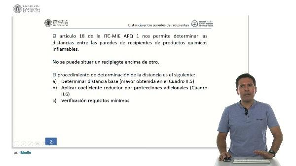 ITC MIE APQ-1: Determinación de la distancia entre paredes de recipientes