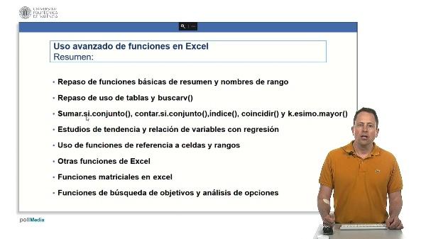 Curso avanzado Excel. Resumen módulo de uso avanzado de funciones
