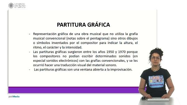 Soporte audiovisual gráfico: partitura gráfica y vídeo a partir de dibujos y grafías
