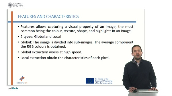 Extraction of characteristics from an image
