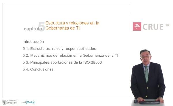 Estructura y relaciones en la Gobernanza de TI