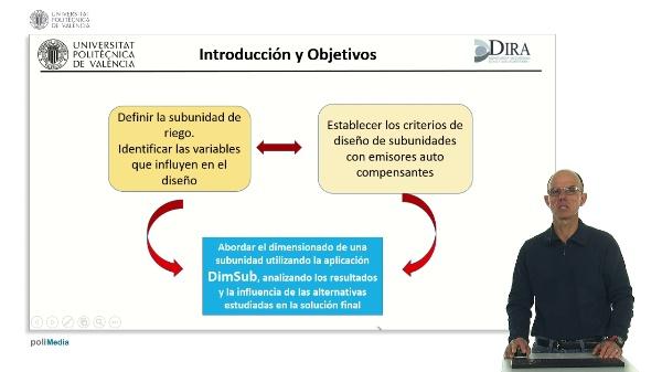 Diseño y dimensionado de subunidades de riego localizado con emisores auto compensantes utilizando la aplicación