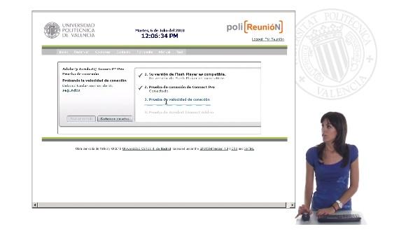 Test de conectividad y audio