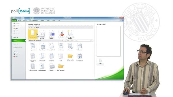 Abrir y cerrar archivos, crear nuevas hojas y terminar la sesión