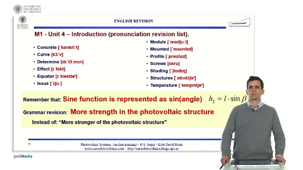 M1.U4. Supporting structures: introduction. English Grammar / spelling revision