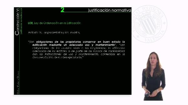 Capítulo II: Justificación Normativa de la Patología y Mantenimiento de los edificios