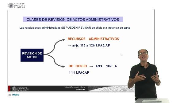 Unidad 10. La revisión de los actos administrativos y el sistema de recursos I.