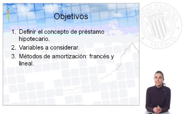 Productos hipotecarios y métodos de amortización