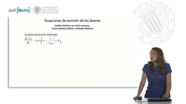 Ecuaciones de emisión (laser en onda continua)