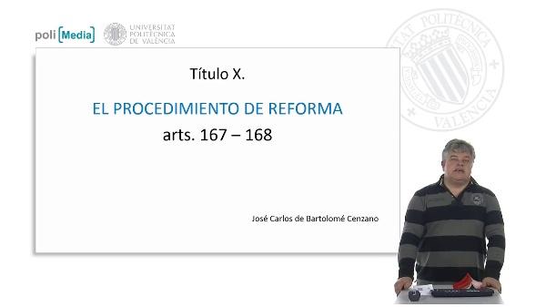 Título X. El Procedimiento de Reforma. arts. 167 - 168