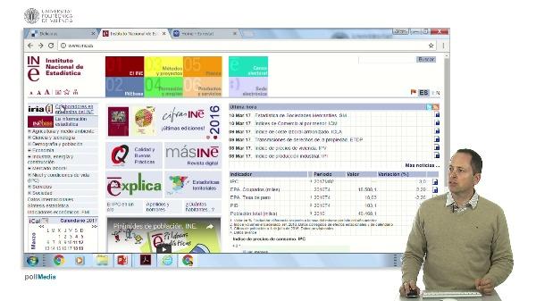 Buscar en Internet. Información estadística España y Europa