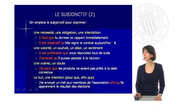 Le Subjonctif (II)