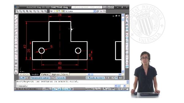 Dibujo de simetrías con Autocad