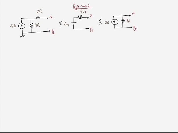 Teoría de Circuitos 1. Lección 3. 8.2.3 Cálculo resistencia equivalente Thevenin. Ejercicio 2