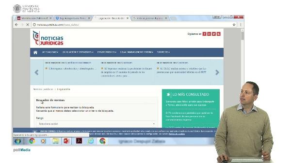 Búsqueda de información en Internet. Información jurídica y legislativa en España