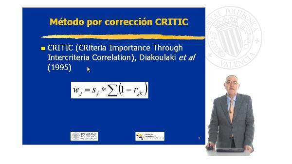 Metodo por Corrección Critic