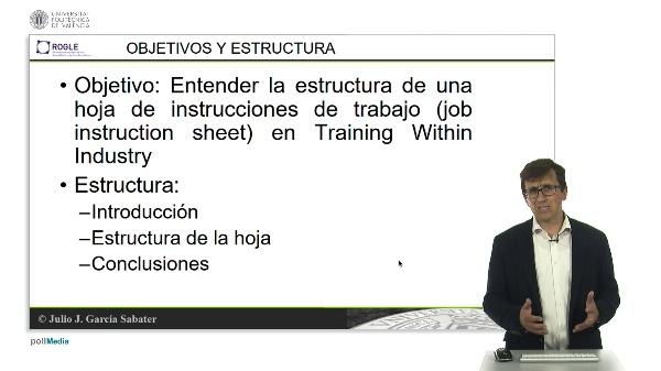 Training Within Industry. Hoja de instructions de trabajo