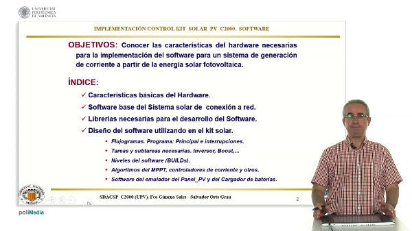 Implementacion Control Kit Solar PV c2000. Software