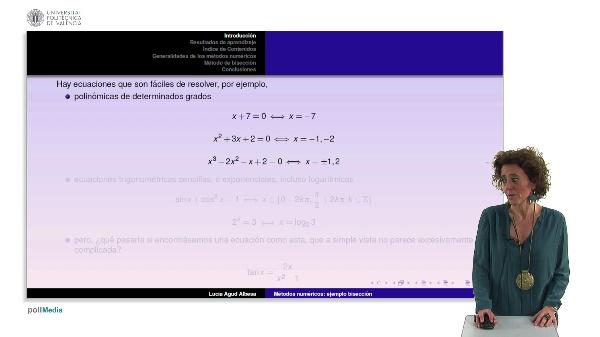 Método de bisección para la resolución de ecuaciones