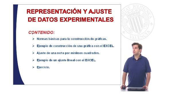 Representación y ajuste de datos experimentales