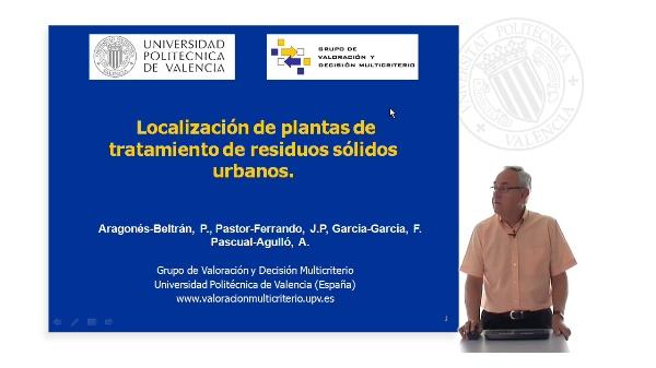 Localización de plantas de tratamiento de residuos sólidos urbanos.