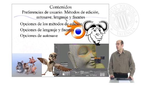 Preferencias de usuario. Métodos de edición, autosave, lenguaje y fuentes en Blender