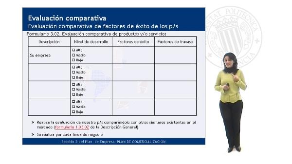Evaluación comparativa de los factores de éxito de los productos/servicios
