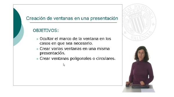 Creación de ventanas en una presentación