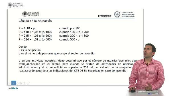 Seguridad contra incendios en establecimientos industriales. Evacuación.