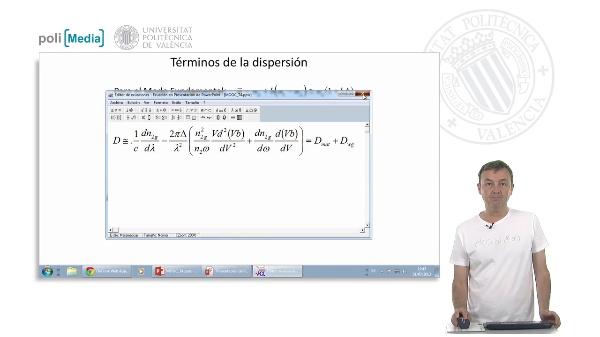 Mecanismos de la dispersión cromática: dispersión del material