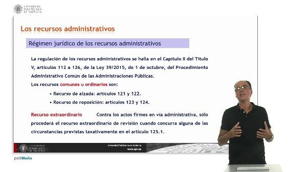 Unidad 10. La revisión de los actos administrativos y el sistema de recursos II.