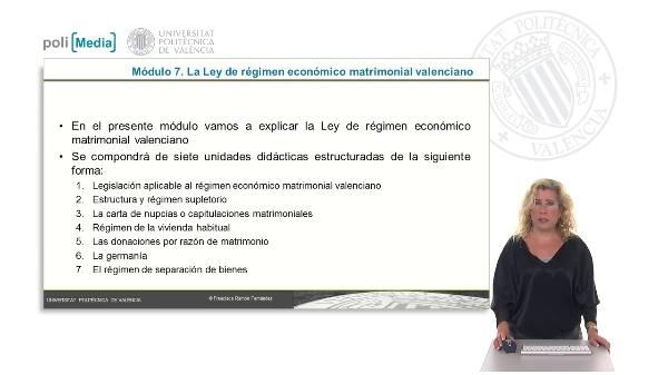 Legislación aplicable al régimen económico matrimonial valenciano