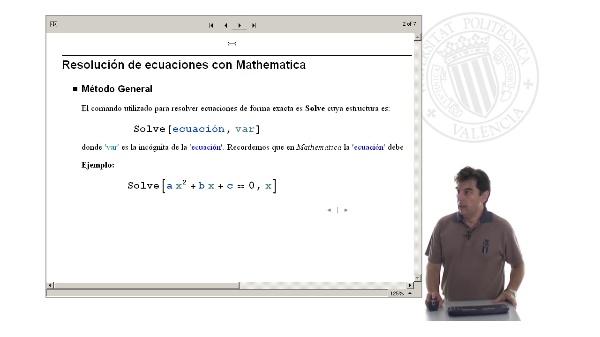 Resolución de ecuaciones con Mathematica