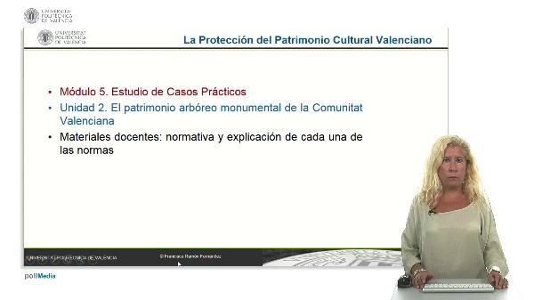 La protección del patrimonio cultural valenciano. Módulo 5. Unidad 2.