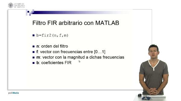 Funciones MATLAB de diseño FIR por enventado (ii)