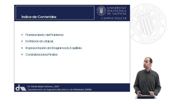 Representación de Diagramas de Equilibrio a partir de las Transformaciones. Eutéctica