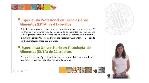Curso Especialista en Tecnología de Alimentos II
