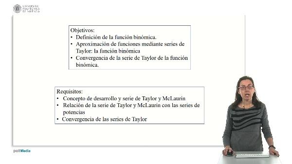 Desarrollo de Taylor de la función binómica