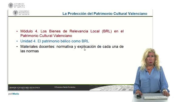 La protección del patrimonio cultural valenciano. Módulo 4. Unidad 4