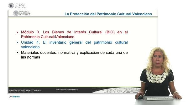 La Protección del Patrimonio Cultural Valenciano. Módulo 3. Unidad 4