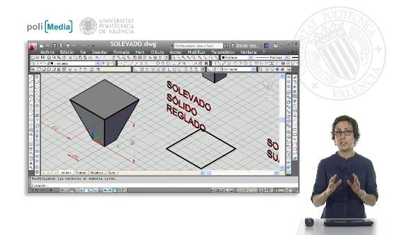 Modelado 3D mediante solevado con Autocad