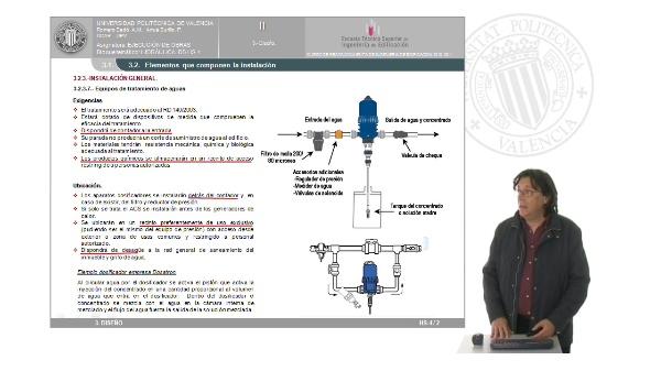 Hidráulica. DB HS-4: Diseño. Elementos que componen la instalación