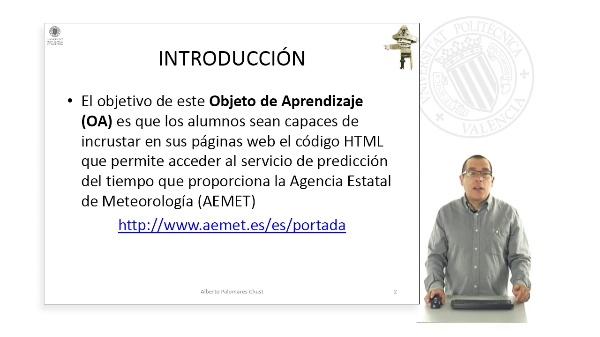 Predicción del tiempo ( AEMET )