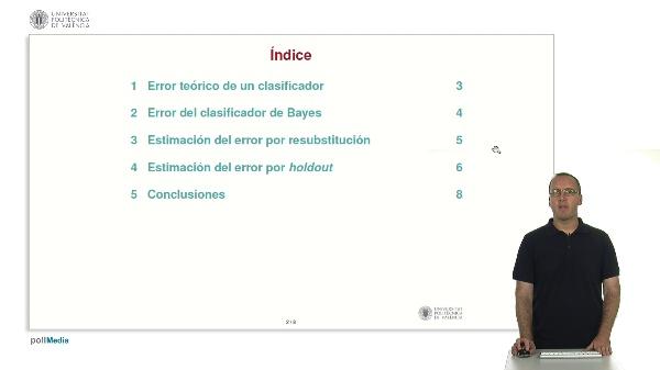 Introducción a la estimación del error en Reconocimiento de Formas