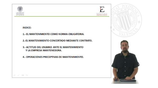 Mantenimiento de Edificios. Organización y Control