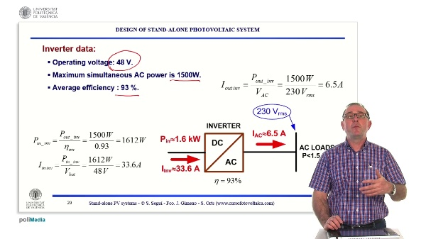 Off-grid photovoltaic installations. Calculation of the worst month of design: exercise (part 2)