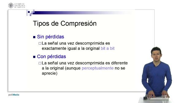 Tipos de compresión y tasa de compresión.